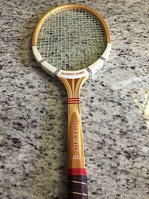 Dunlop Maxply Fort Wooden Tennis Racquet 4 5/8 Grip W/ Cover Primo Cond McEnroe