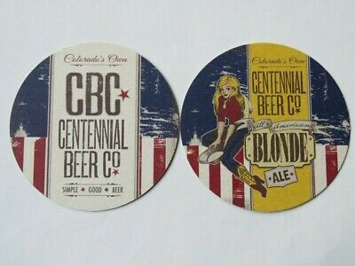 Brewery Bar Coaster ~ CENTENNIAL Beer Company All American Blonde Ale ~ COLORADO