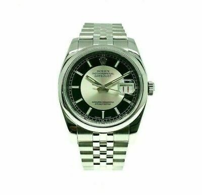 Rolex Datejust 36MM Watch Factory Dial Ref 116200 M Serial Jubilee Band Tux Dial