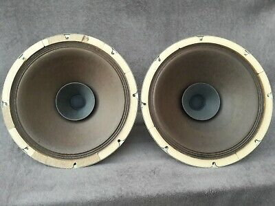 """Matched pair of 30 cm 12"""" big Philips ad5200 full range speakers alnico magnets"""