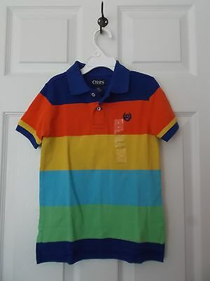 Chaps Multi-Colored Striped Short Sleeve Polo Shirt - Size 4 - New With Tags