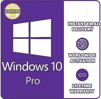 Upgrade to Windows10 Pro key professional ✅ 32/64bit ✅GENUINE ACTIVATION Key⭐⭐⭐⭐