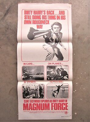 MAGNUM FORCE 1973 Original Movie Promotional Daybill Poster EASTWOOD DIRTY HARRY