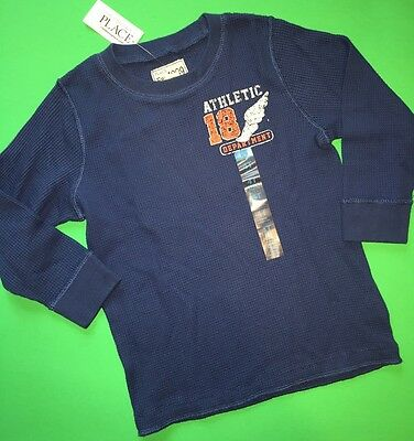 "NEW! ""Athletic Department"" Baby Boys Thermal Shirt 4T Blue Gift! Cute LS $14.50"