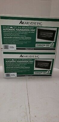 Lot of 2 New Air Vent Inc, Solar Tek Automatic Foundation Replacement Vents Grey