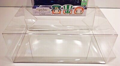 1 Box Protector For FUNKO HARRY POTTER ECCC WEASLEY 3 Pack  Clear Display Case