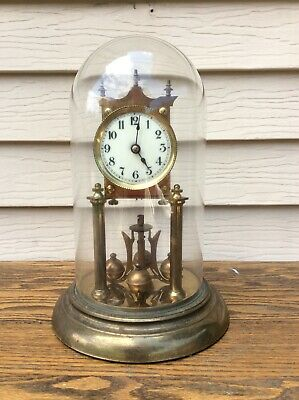 "400 Day, Anniversary Clock w/ 3"" Porcelain Dial,  w/ Glass Dome, Parts / Repairs"