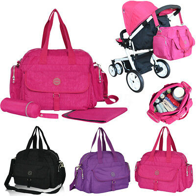 Waterproof Nappy Baby Diaper Bag Tote Mummy Changing Shoulder Bag Large