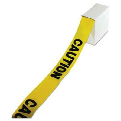 """Impact IMP7328 Site Safety Barrier Tape, """"caution"""" Text, 3"""" X 1000ft,"""