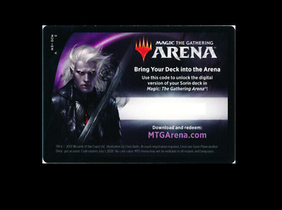 Magic 2020 Sorin Planeswalker Deck Arena Code x1 - Mtg Magic EMAIL ONLY