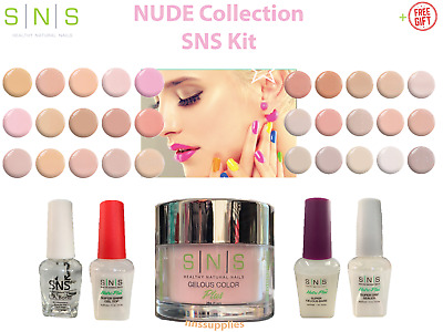 SNS Dipping Nail DIY Kit NUDE COLLECTION NC Dip Powder System 5-Piece SETs +FREE