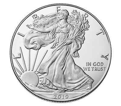 2019 1 oz AMERICAN SILVER EAGLE UNCIRCULATED!