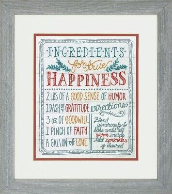 Dimensions Embroidery Kit D71-01569 Ingredients for Happiness