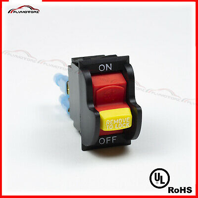 Dual Voltage TOGGLE SAFETY SWITCH W/KEY 20A 125/250VAC DELTA 489105-00 Table Saw