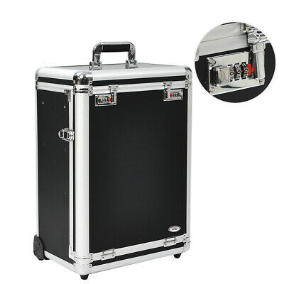 Professional Rolling Travel Makeup Beauty Case Jewelry Drawer Code Lock Lockable