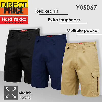Hard Yakka Work Shorts Tradie Heavy Duty Stretch Drill Cargo Short Y05067 NEW