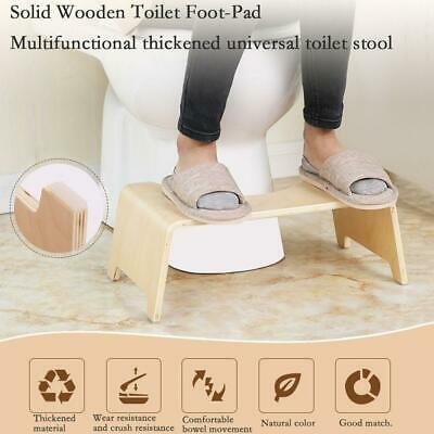 Sit & Squat Squatty Potty Solid Wooden Toilet Stool Healthy NON-SLIP Foot Stool