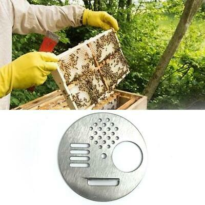4pcs Stainless Steel Bee Hive Nuc Box Beekeeper Disc Entrance Gate Nest 2019HOT