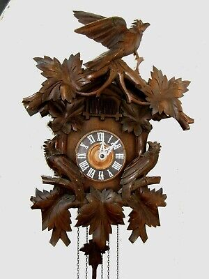 Antique Egon  Steimer German Black Forest Cuckoo Clock circa 1910s.