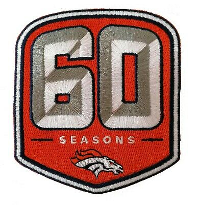 "🏈NEW! 4"" 2019 DENVER BRONCOS 60 Seasons Iron-on NFL Football Jersey PATCH!"