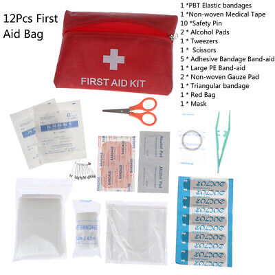 1Set First Aid Energency Mini Outdoor Home Medical Bag Emergency Survival Kit~GN