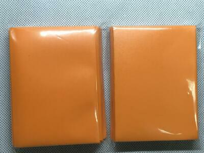 100pcs/Pack DECK PROTECTOR Card Sleeves 66mm*91mm Orange color + Glossy