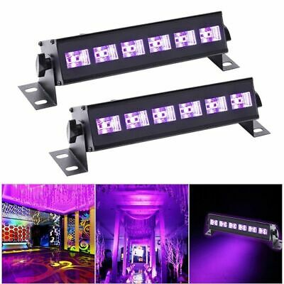 2PCS 18W UV LED Bar 6 LED Black Stage Lighting DJ Disco Party Wall Light Wash