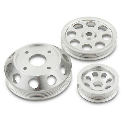 Alloy 3Pc Under Drive Engine Pulley Kit For Nissan S13 S14 S14A S15 2.0 Sr20Det
