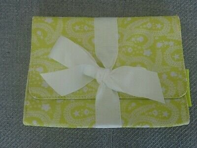 Christian Lacroix make up bag Absynthe Lime green & white New