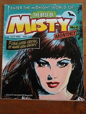 The Best Of Misty Monthly Comic No 6 Sixth Edition July 1986 - Rare !!