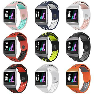 Replacement Dual Color Silicone New Wrist Band Watchband Strap For Fitbit Ionic