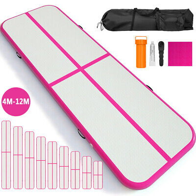 Air Track 10/13/16/20/26/30/36FT Airtrack Inflatable Gymnastic Tumbling Mat+Pump