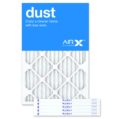 AIRx Filters Dust 16x24x1 Air Filter Replacement Pleated MERV 8, 6-Pk