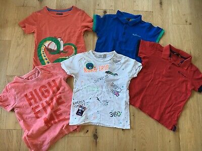 5-6 Years Ben Sharman Zara Joules Next T-Shirts  Polos Tops Boys Clothes Bundle