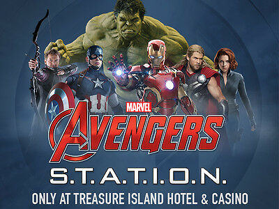 2 Passes To Marvel Avengers S.t.a.t.i.o.n. In Las Vegas At Treasure Island