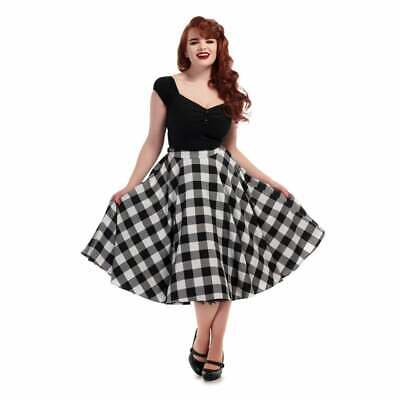 Collectif Mainline Milla Gingham Swing Skirt