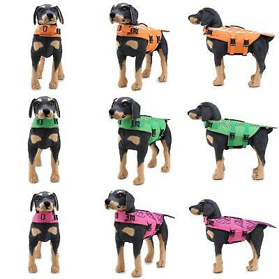 Dog Buoyancy Aid Pet Jacket Swimming Boating Adjustable Safety Vest Suit Sightly