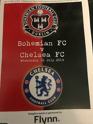 Bohemians v Chelsea Friendly 10 July 2019, MINT+ FADED USED MATCH TICKET