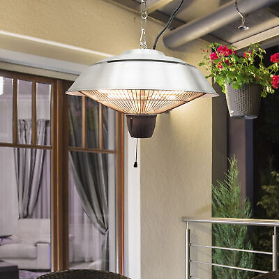 Electric Patio Heater Ceiling Mounted Halogen 1500 Watt Hanging Indoor Garden