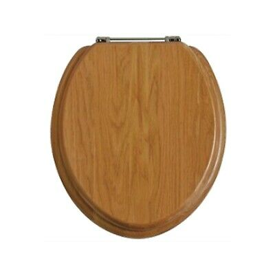 Admirable Heritage Oak Toilet Seat With Soft Close Hinges Foa101Sa Evergreenethics Interior Chair Design Evergreenethicsorg