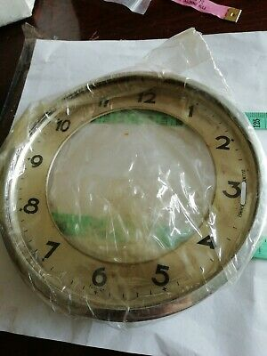 Antique clock face and surround 6 inches