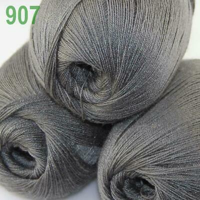 AIP 3 Balls x50gr LACE Soft Acrylic Wool Cashmere hand knit Crochet Wrap Yarn 07