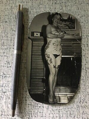 1950's Tattoo Lady Photo Old School Tattoo From Owen Jensen's Collection Pike LB