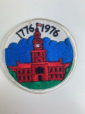"Vintage Patch Independence Hall 1776 1976 Philadelphia 3"" Souvenir"
