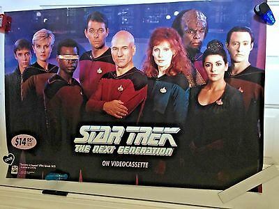 STAR TREK NEXT GENERATION PRE VHS AD   Movie POSTER 1991 + STARFLEET1992 flyers