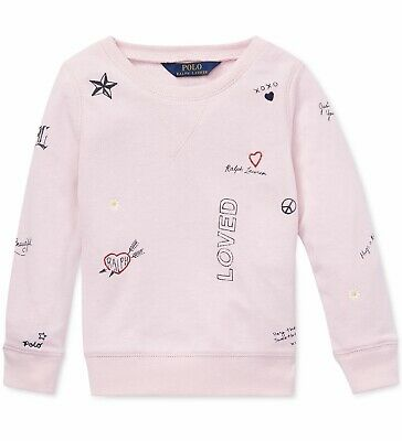 NWT Ralph Lauren Polo Toddler Girls Graphic French Terry Pullover