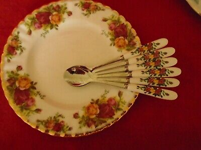 Royal albert Old Country roses   *** INSPIRED 6 TEA / COFFEE SPOONS  ***NEW ***