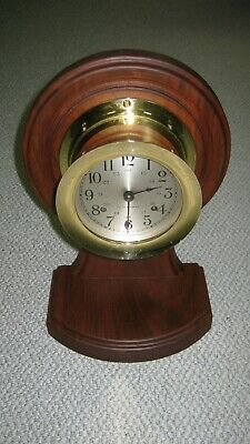 Seth Thomas Ships Bell Clock- Wood Stand