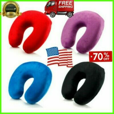 'NEW'Memory Foam U Shaped Travel Pillow Neck Support Head Rest Airplane Cushion