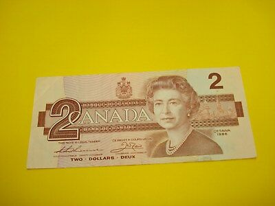 1986 - JAMES BOND - Canadian two dollar bill - $2 Canada note - EBT0078672